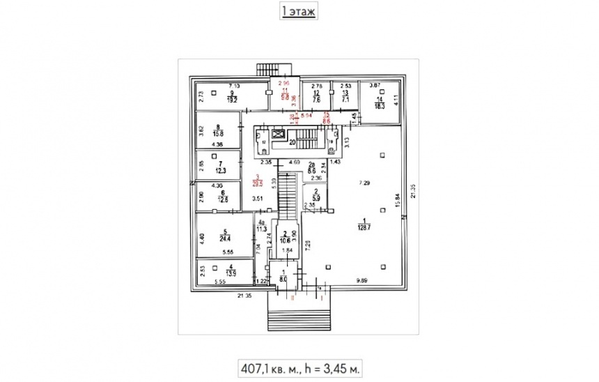 Sale Commercial building, Total area 1117.1 m2, 1 Floor, Aviamotornaya ul 19, District Lefortovo, Land area 11.22 acres