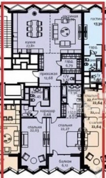 Sale Residential, Total area 153 m2, 5 Floor, Residential Complex Садовые кварталы, Usacheva ul 11