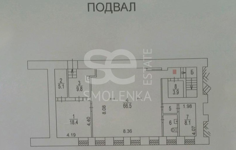 Rent Commercial building, Total area 500 m2, 1 Floor, Oruzheynyy per 3 s1, District Tverskoy
