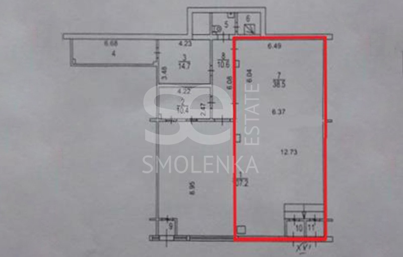 Sale Retail, Total area 100 m2, 1 Floor, Leninskiy prkt 127, District TroparyevoNikulino