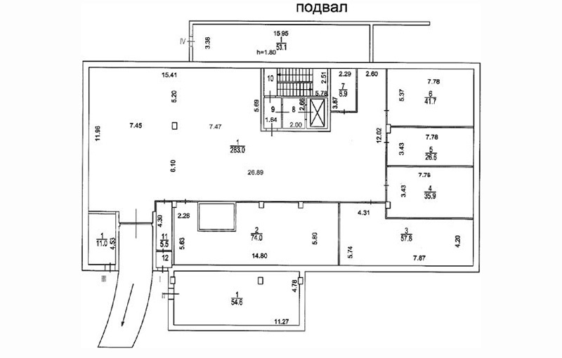 Sale Commercial building, Total area 4650 m2, 1 Floor, Savvinskaya nab 23 s2, District KHamovniki