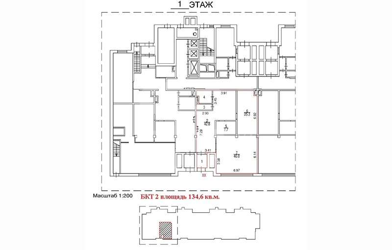 Rent Retail, Total area 134.6 m2, 1 Floor, Lobachevskogo ul 118 k1, District Ramenki