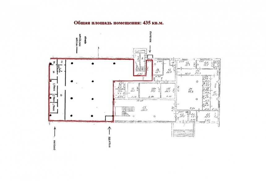 Rent Multi-purpose, Total area 435 m2, 1 Floor, Krasnodarskaya ul 13, District Lyublino