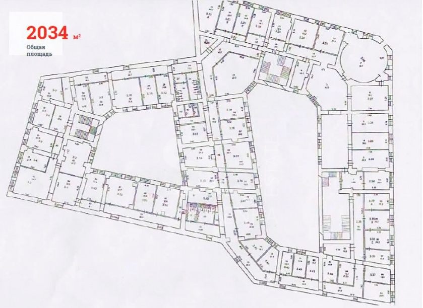 Sale Office, Total area 2034 m2, 3 Floor, Raushskaya nab 45s1, District Zamoskvoreche