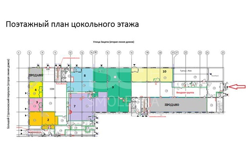 Sale Retail, Total area 86.1 m2, 1 Floor, Zatsepa ul 29, District Zamoskvoreche